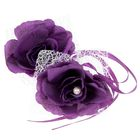 Набор роз для декора, цвет фиолетовый