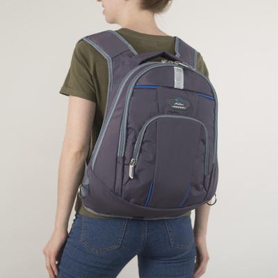 Рюкзак молодёжный на молнии, 2 отдела, 1 наружный карман, цвет хаки
