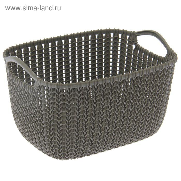 Корзина 8 л Knit, цвет темно-коричневый