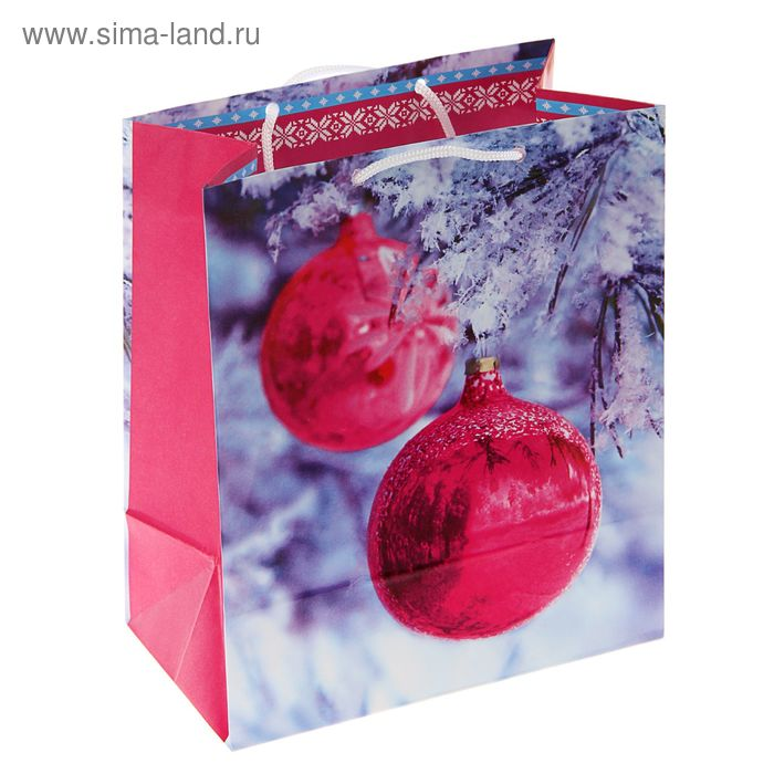 """Пакет подарочный """"Зеркальный шар"""", 42.5 х 33 х 10 см"""