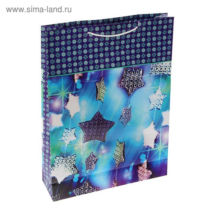 """Пакет подарочный """"Футаж"""", 32 х 26 х 12 см"""
