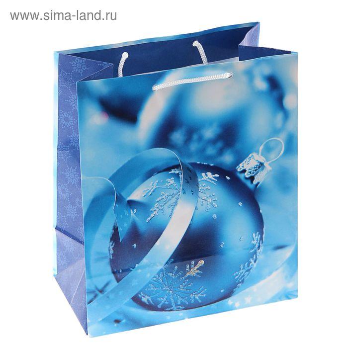 "Пакет подарочный ""Синий иней"", 24 х 20.3 х 11.5 см"