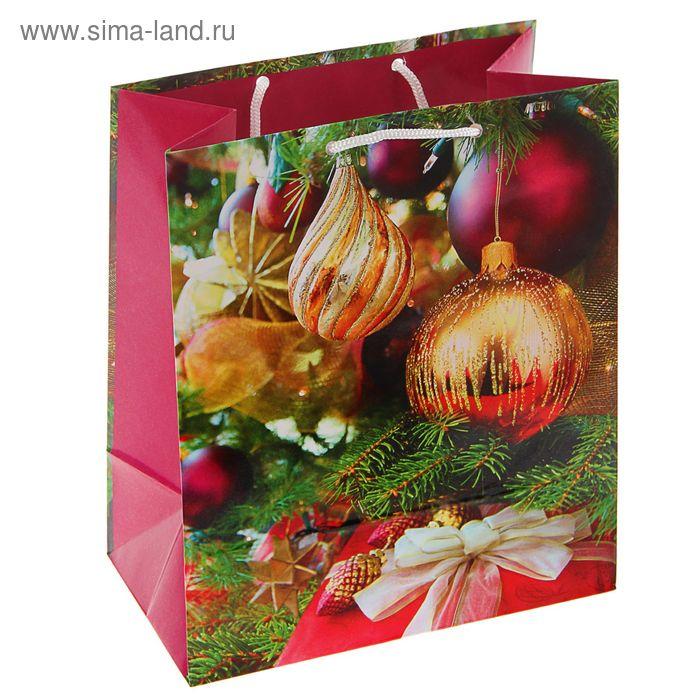"""Пакет подарочный """"Елочный мир"""", 24 х 20.3 х 11.5 см"""