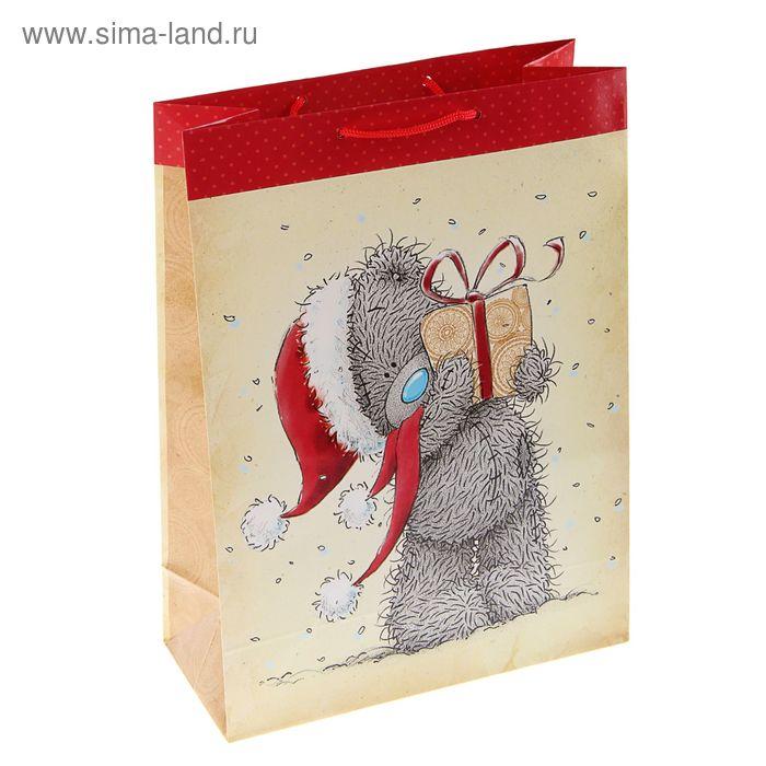 """Пакет подарочный """"Топтышка с подарочком"""", 24 х 20.3 х 11.5 см, Me to you"""