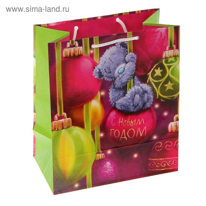 "Пакет подарочный ""Мишка на шаре"", 24 х 20.3 х 11.5 см, Me to you"