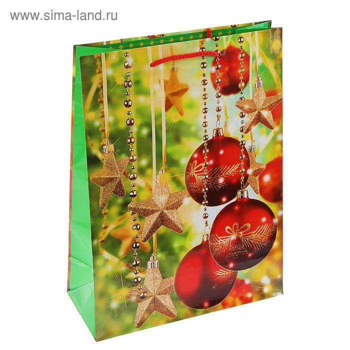 """Пакет подарочный """"Праздничное сияние"""", 32 х 26 х 12 см"""