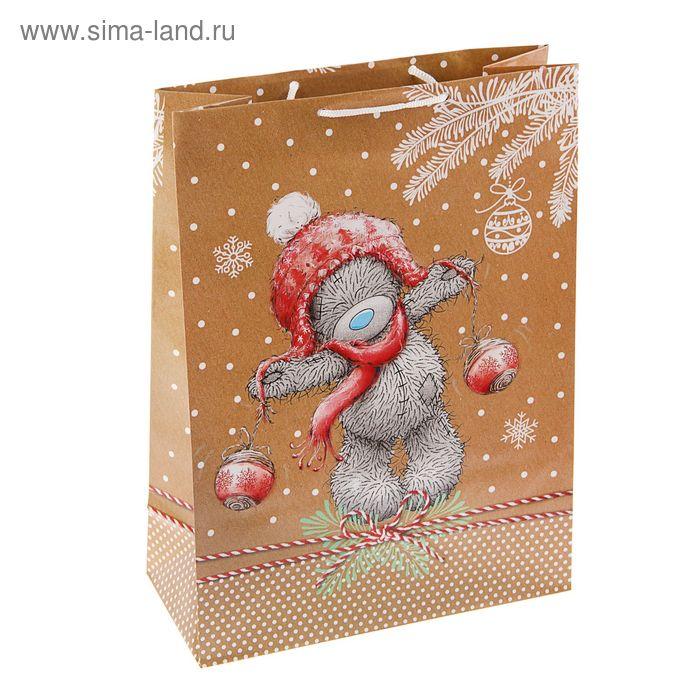 "Пакет подарочный ""Счастливый Тедди"", 36 х 26 х 11.5 см, Me to you"