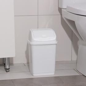 """Контейнер для мусора 4 л """"Камелия"""", цвет белый"""
