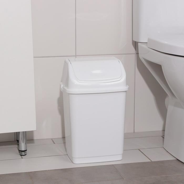 """Контейнер для мусора 8 л """"Камелия"""", цвет белый"""