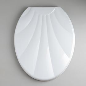 """Сиденье с крышкой для унитаза """"Ракушка"""", цвет белый"""