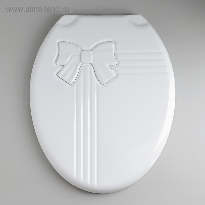 """Сиденье с крышкой для унитаза """"Комфорт Люкс"""", цвет белый"""