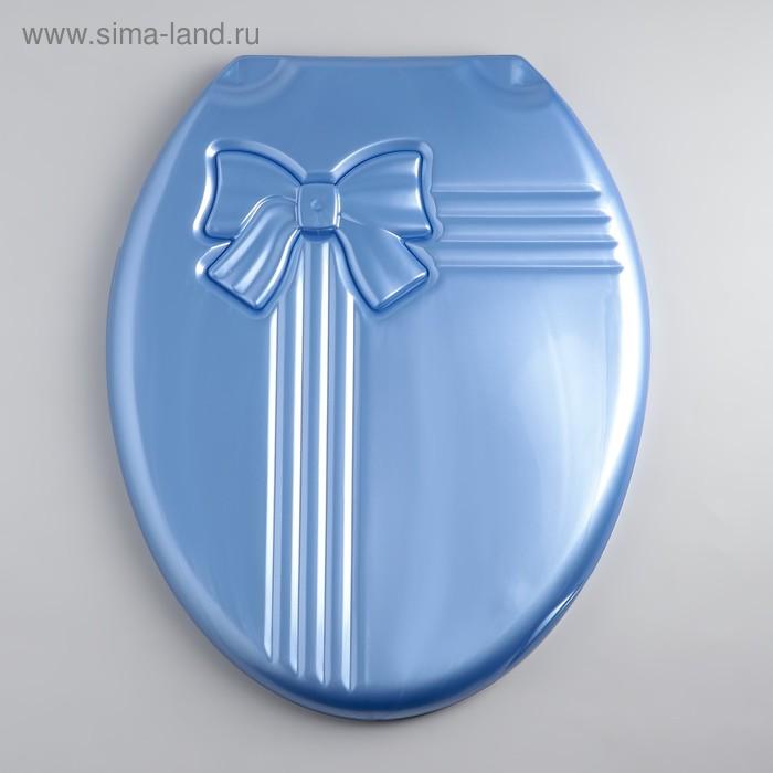 """Сиденье с крышкой для унитаза """"Комфорт Люкс"""", цвет голубой перламутр"""