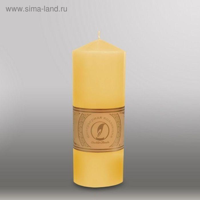 """Свеча цилиндр с конусом """"Классика"""", 70x200мм,  желтый"""