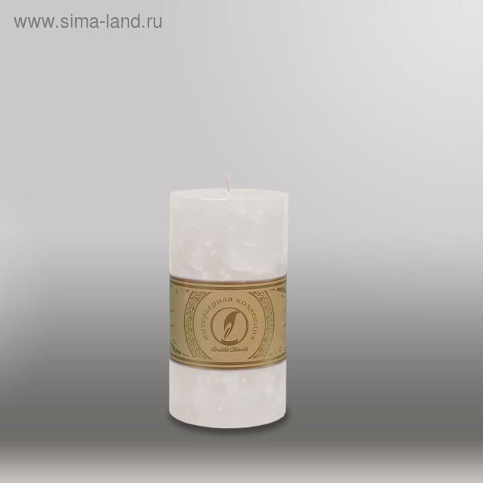 """Свеча цилиндр """"Мрамор"""", 80x150мм,  белый"""