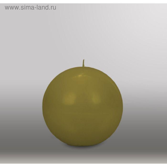 "Свеча шар ""Классика"", d=125мм,  оливковый"