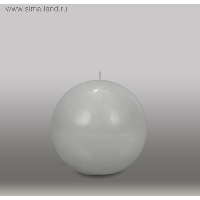 "Свеча шар ""Классика"", d=125мм,  дымчато-голубой"