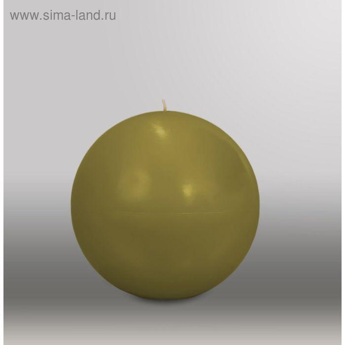 "Свеча шар ""Классика"", d=150мм,  оливковый"