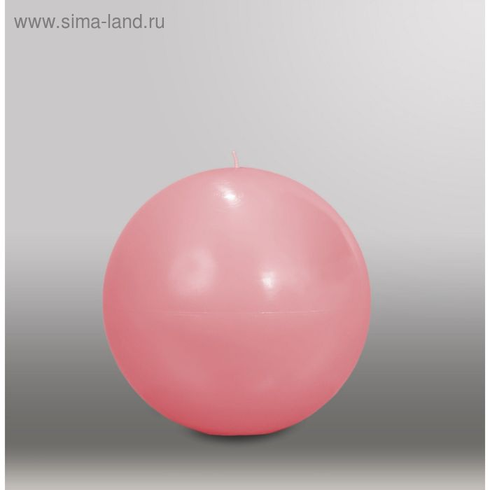 "Свеча шар ""Классика"", d=150мм,  розовый"