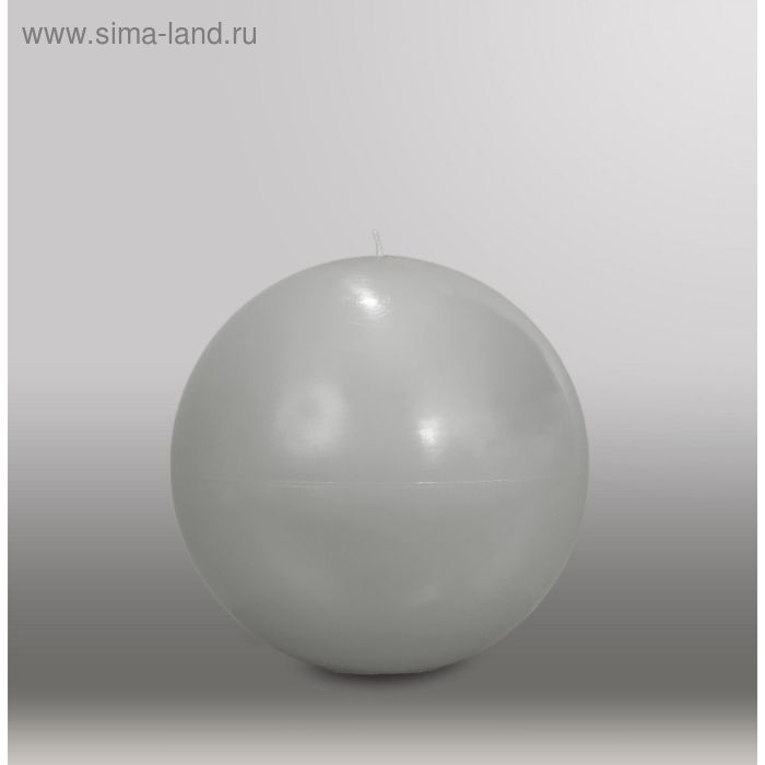 "Свеча шар ""Классика"", d=150мм,  дымчато-голубой"