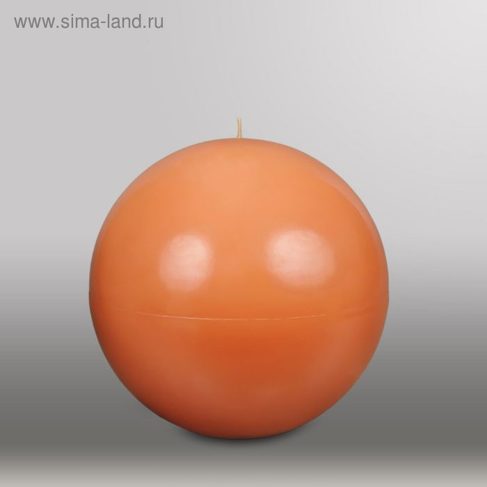 """Свеча шар """"Классика"""", d=200мм,  терракотовый"""