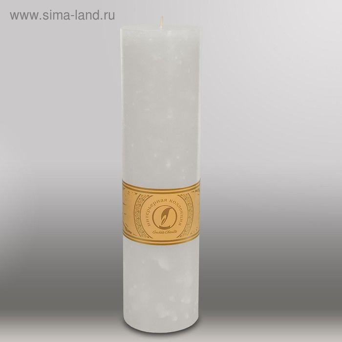 """Свеча цилиндр """"Мрамор"""", 80x305мм,  белый"""