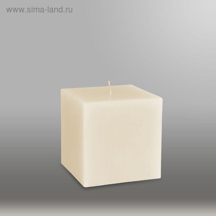 """Свеча куб """"Классика"""", 75мм,  слоновая кость"""
