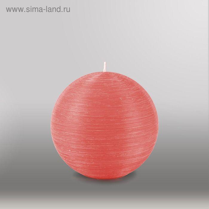 """Свеча шар """"Рельеф"""", d=125мм,  розовый"""