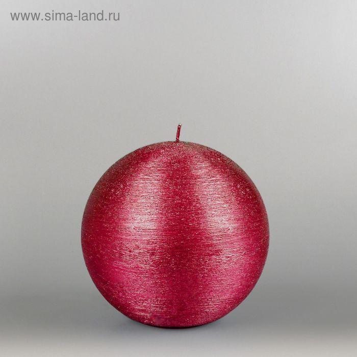 """Свеча шар """"Металлик"""", d=125мм,  рубин"""
