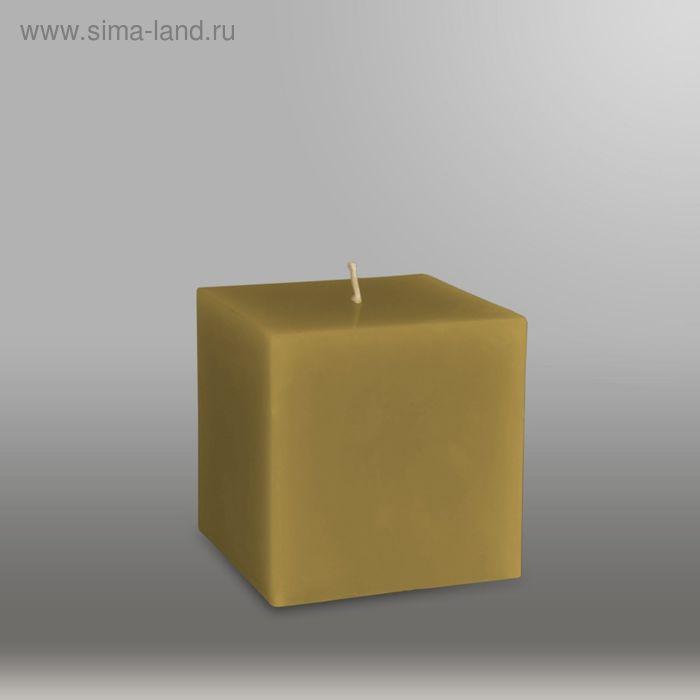 """Свеча куб """"Классика"""", 75мм,  оливковый"""