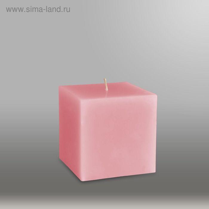 """Свеча куб """"Классика"""", 75мм,  розовый"""