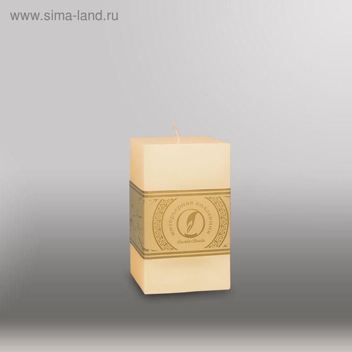 """Свеча квадратная призма """"Классика"""", 75x75х125мм,  кремовый"""