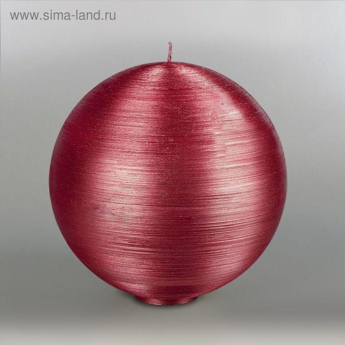 """Свеча шар """"Металлик"""", d=200мм,  рубин"""