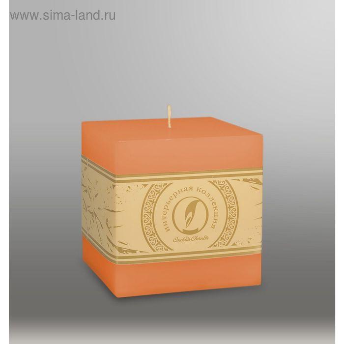 """Свеча куб """"Классика"""", 100мм,  терракотовый"""