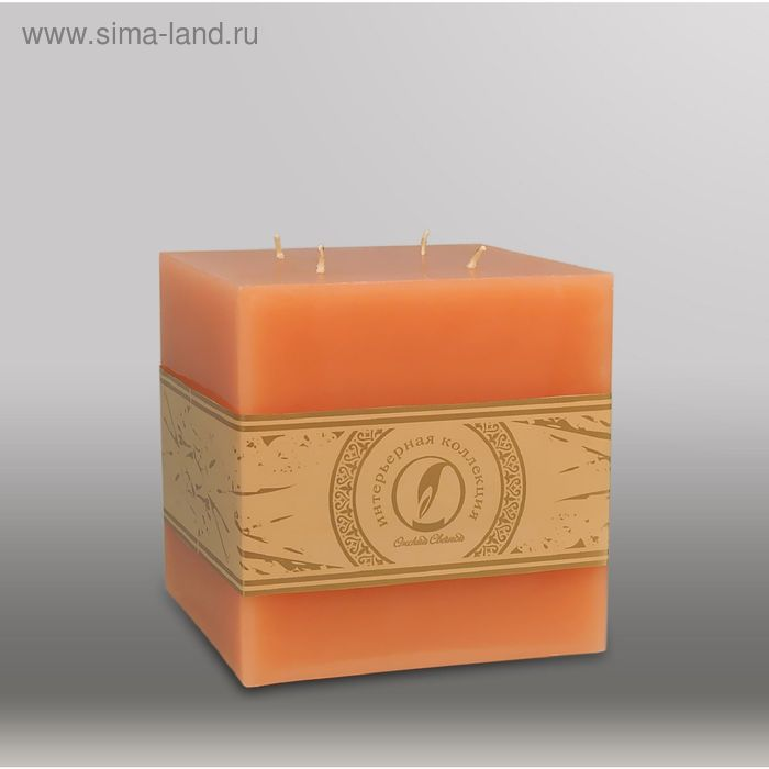 """Свеча куб """"Классика"""", 125мм,  4 фитиля терракотовый"""