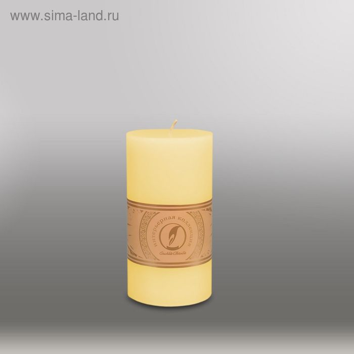 "Свеча цилиндр ""Классика"", 80x150мм,  желтый"