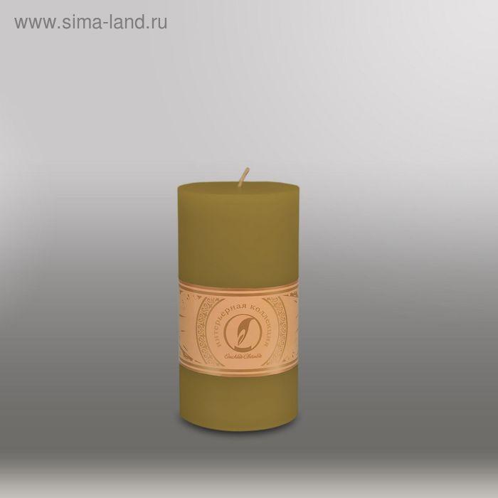 """Свеча цилиндр """"Классика"""", 80x150мм,  оливковый"""