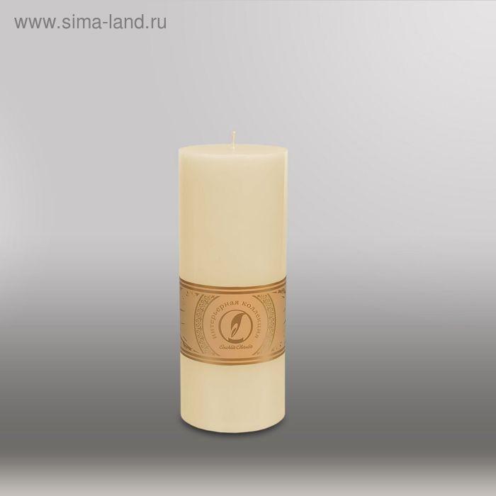 """Свеча цилиндр """"Классика"""", 80x200мм,  кремовый"""