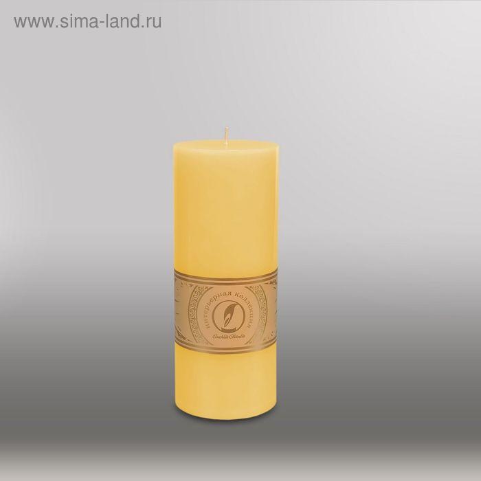 "Свеча цилиндр ""Классика"", 80x200мм,  желтый"
