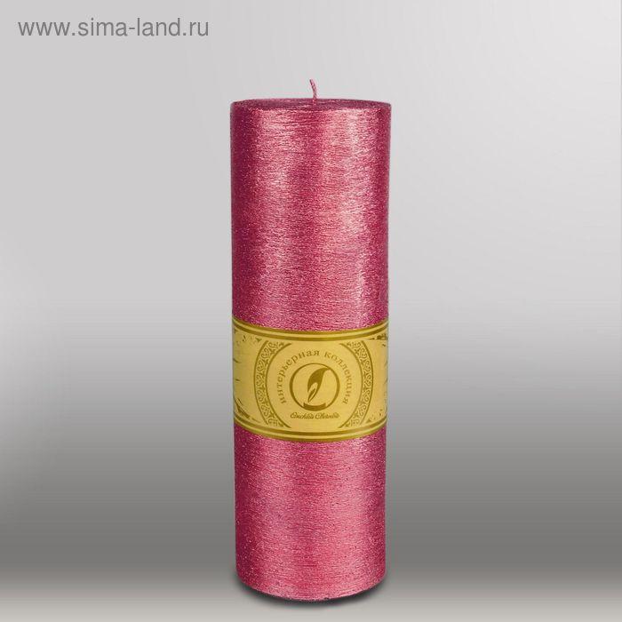 """Свеча цилиндр """"Металлик"""", 80x255мм,  рубин"""