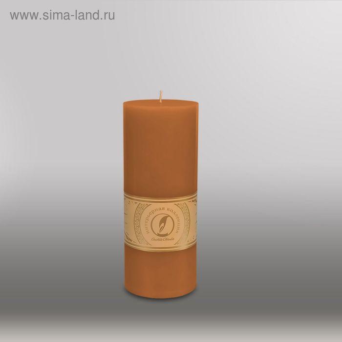 """Свеча цилиндр """"Классика"""", 80x200мм,  коричневый"""