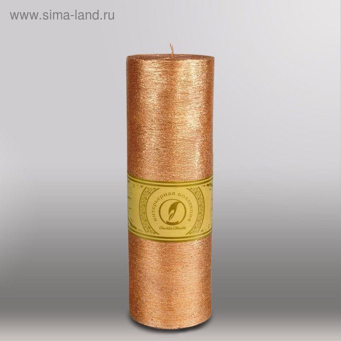 """Свеча цилиндр """"Металлик"""", 80x255мм,  бронза"""