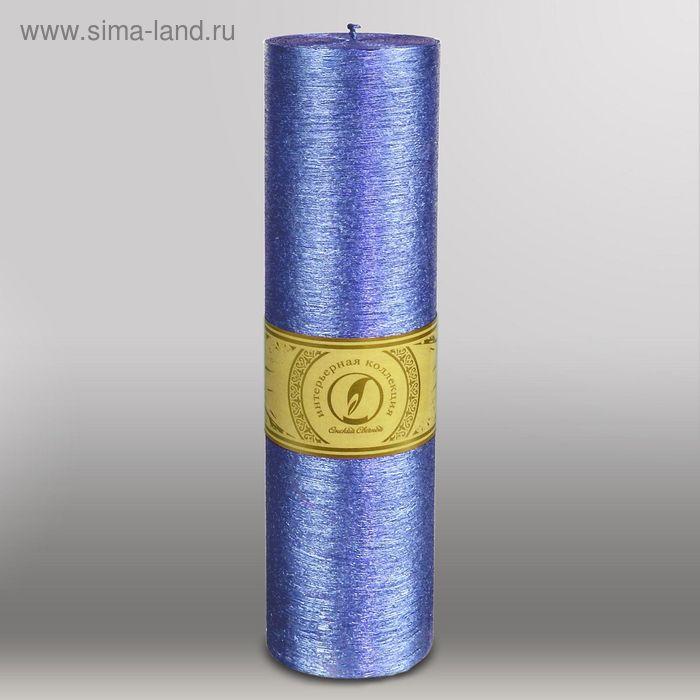 "Свеча цилиндр ""Металлик"", 80x305мм,  темно-фиолетовый"