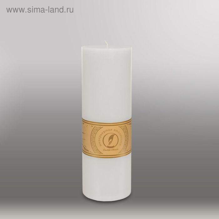 """Свеча цилиндр """"Классика"""", 80x255мм,  белый"""