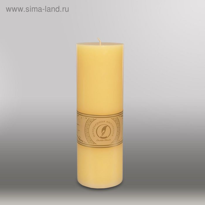 "Свеча цилиндр ""Классика"", 80x255мм,  желтый"