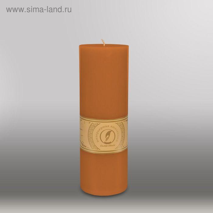 """Свеча цилиндр """"Классика"""", 80x255мм,  коричневый"""