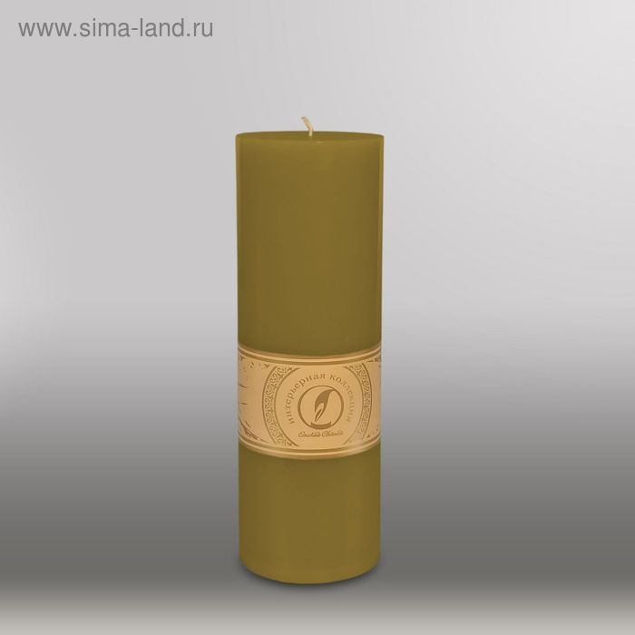 """Свеча цилиндр """"Классика"""", 80x255мм,  оливковый"""