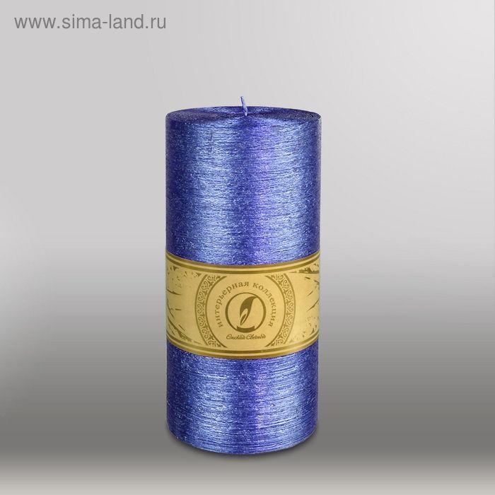 "Свеча цилиндр ""Металлик"", 100x205мм,  темно-фиолетовый"