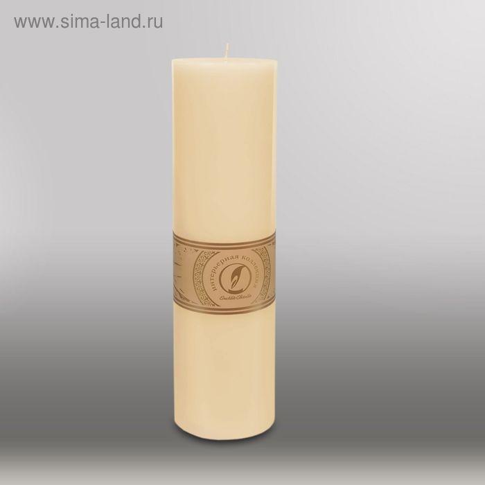 """Свеча цилиндр """"Классика"""", 80x305мм,  кремовый"""
