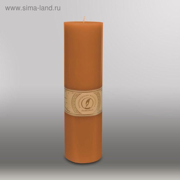 """Свеча цилиндр """"Классика"""", 80x305мм,  коричневый"""