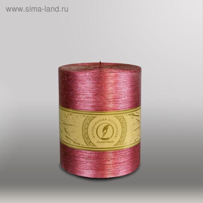 """Свеча цилиндр """"Металлик"""", 120x150мм,  рубин"""